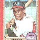 1968 Topps baseball card #578 Orlando Martinez EX