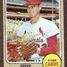 1968 Topps baseball card #408 Steve Carlton EX