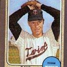 1968 Topps baseball card #322 Dave Boswell EX