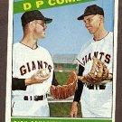 1966 Topps baseball card #156 DP Combo Dick Schofield & Hal Lanier VG
