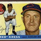 1955 Topps baseball card #151 Red Kress EX/NM Cleveland Indians