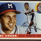 1955 Topps baseball card #149 Ray Crone VG/EX Milwaukee Braves