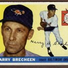 1955 Topps baseball card #113 (B) Harry Brecheen EX Baltimore Orioles