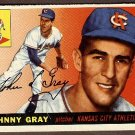 1955 Topps baseball card #101 Johnny Gray EX/NM Kansas City Athletics