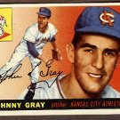 1955 Topps baseball card #101 (B) Johnny Gray NM Kansas City Athletics