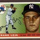 1955 Topps baseball card #99 (B) Frank Leja EX+ New York Yankees