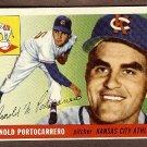 1955 Topps baseball card #77 (C) Arnold Portocarrero VG/EX Kansas City Athletics