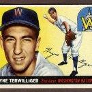 1955 Topps baseball card #34 Wayne Terwilliger VG Washington Nationals