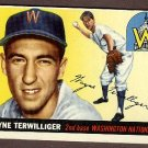 1955 Topps baseball card #34 (B) Wayne Terwilliger EX/NM Washington Nationals