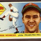 1955 Topps baseball card #29 (B) Herman Wehmeier EX/NM Philadelphia Phillies