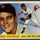 1955 Topps baseball card #17 (B) Bobby Hoffman EX/Nm New York Giants