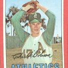 1967 Topps baseball card #438 Chuck Dobson EX/NM Kansas City A's