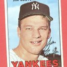 1967 Topps baseball card #393 (B) Jim Bouton EX New York yankees