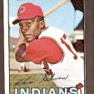 1967 Topps baseball card #43 Chico Salmon NM Cleveland Indians
