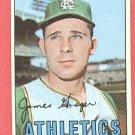 1967 Topps baseball card #17 Jim Gosger EX- Kansas City A's