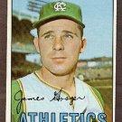 1967 Topps baseball card #17 (C) Jim Gosger NM Kansas City A's