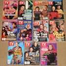 11 diff Star Trek/Science Fiction TV Guide magazine Next Generation, Deep Space Nine, Voyager, more!