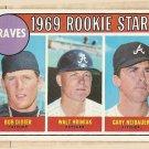 1969 Topps baseball card #611 (B) Bob Didier, Walt Hriniak, Gary Neibauer Rookies EX Atlanta Braves