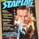 Starlog magazine #4 1977 Richard Anderson 6 million Dollar man, Bionic Woman, Outer Limits