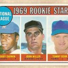 1969 Topps baseball card #641 Bobby Darwin, John Miller, Tommy Dean RC rookies EX