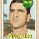 1969 Topps baseball card #513 Camilo Pascual NM Washington Senators