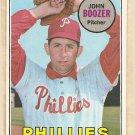 1969 Topps baseball card #599 John Boozer EX/NM