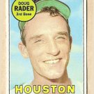 1969 Topps baseball card #119 Doug Rader EX-