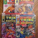 Marvel Comics Marvel Two-In-One #'s 31, 32, 34, 69 good condition