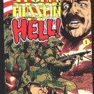 Desert Storm - Send Saddam Hussein to Hell comic book 1991 NM/M