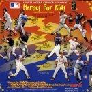 1998 Fleer Heroes For Kids Commemorative promo card, NM/M Greg Maddux, Mark McGwire