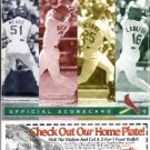 1999 St. Louis Cardinals baseball Scorecard - Unused, trifold, NM/M Mark McGwire score card