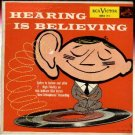 RCA Victor Hearing is Believing 45 rpm record 1954 - classical music