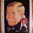 "1970 football Pro-Star Portrait - Jim Hart St. Louis Cardinals 7.5"" x 10"""
