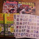 Assorted baseball sticker albums & stickers - 1982, 1983, 1990, 100's of stickers