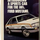 Magazine print ad - 1980 Ford Mustang - 2 pages