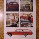 Magazine print ad - 1964 Pontiac Tempest station wagon