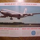 Magazine print ad - 1960's Pan Am Airlines w/ Jet Clipper planes