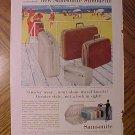 Magazine print ad - 1960's Samsonite Silhouette luggage suitcase