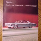 Magazine print ad - 1965 Oldsmobile Starfire