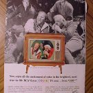 Magazine print ad - 1965 RCA Victor COLOR TV w/ Bonanza cast