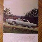 Magazine print ad - 1965 Cadillac automobiles