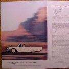 Magazine print ad - 1959 Ford Thunderbird (T-bird)