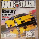 Road & Track magazine May 2002 Lamborghini Murcielago, BMW M3 street & track tests
