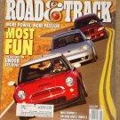 Road & Track magazine January 2003 Mini Cooper S, Beetle Turbo S, PT Cruiser Turbo, Audi A8
