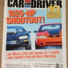 Car & Driver magazine January 2000 Camaro Zl-1 vs Boss Mustang, Porsche Boxster S, 4X4 customs