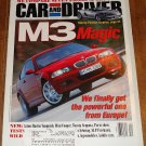 Car & Driver magazine December 2000 BMW M3, Aston Martin Vanquish, Mini Cooper, Toyota Sequoia