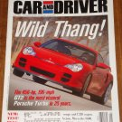 Car & Driver magazine May 2001 Porsche GT2 turbo, Mercedes S600, M1A1 tank