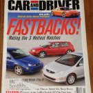 Car & Driver magazine March 2002 Detroit auto show, Honda Civic Si, Hyundai Tiburon, Range Rover