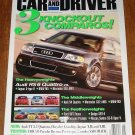 Car & Driver magazine May 2003 Audi RS6 Quattro vs Jaguar S-type R vs BMW M5 vs Mercedes E55 AMG