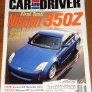 Car & Driver magazine August 2002 Nissan 350Z, Ferrari 575M maranello, Hummer H2, Super SUV's